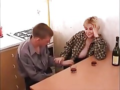 Old and Young porn tube - mature fucks boy